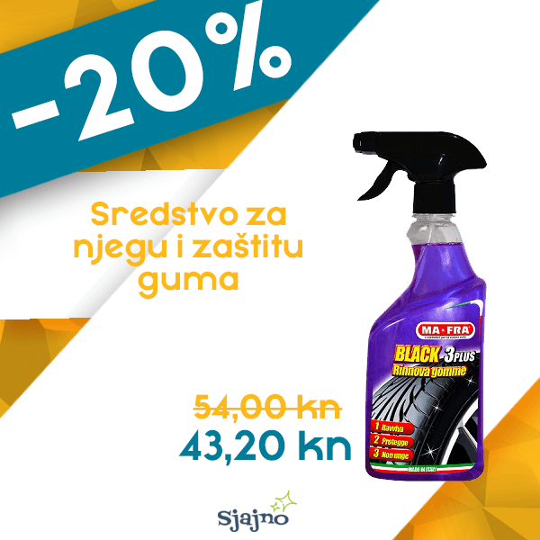 MAFRA CRNILO ZA GUME BLACK 3 PLUS 500 ml